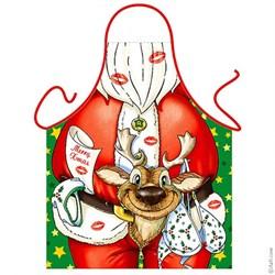 Фартук  Дед Мороз с шуткой - фото 4441