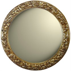 Зеркало диаметр 101 золото - фото 4595