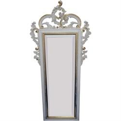 Зеркало 124x57x6 слоновая кость - фото 4643