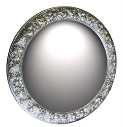 Зеркало диаметр 101 серебро - фото 4676