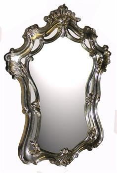 Зеркало 102x71x5 серебро - фото 4689