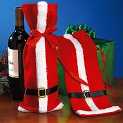 Новогодний чехол для вина - фото 4697
