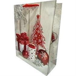 Новогодний пакет 31х40 Подарок - фото 5113