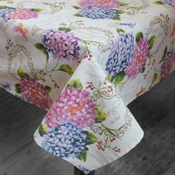 Скатерть  с цветами Ортензии - фото 5270
