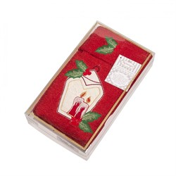 Набор новогодних полотенец Фонарик - фото 5383