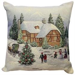 Подушка новогодняя гобеленовая ДОЛОМИТИ - фото 5396
