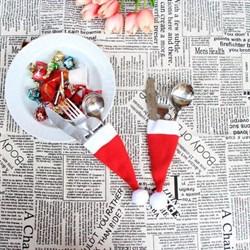 Новогодние держатели столовых приборов Колпачки - фото 5430