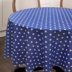 Круглая скатерть Горох на синем - фото 5457