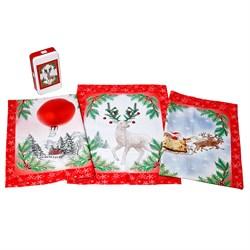 Набор новогодних салфеток Олень - фото 5640