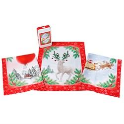 Набор новогодних салфеток Санки - фото 5641