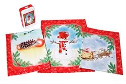 Набор новогодних салфеток Снеговик - фото 5642