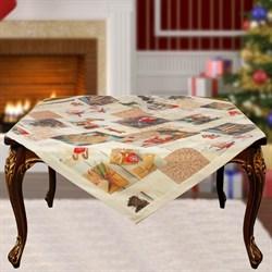 Скатерть на квадратный стол с люрексом  Шарон dis.3 - фото 5692