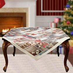 Скатерть на квадратный стол с люрексом Шарон dis.7 - фото 5702