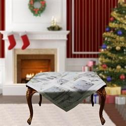 Скатерть на квадратный стол с люрексом Шарон dis.1 - фото 5706