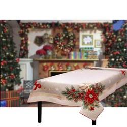 Скатерть новогодняя гобеленовая с люрексом Шарлотта - фото 5757