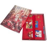 скатерть Санта Клаус красн. с 6 салфетками
