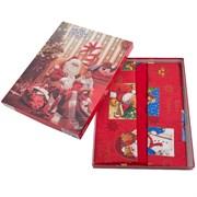 скатерть Санта Клаус красн. с 8 салфетками