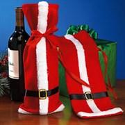 Новогодний чехол для вина