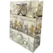 Новогодний пакет 31х40 белый шар