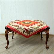 Салфетка на квадратный стол с люрексом  Кристмас red