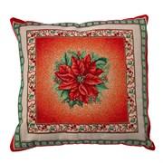 Подушка новогодняя гобеленовая Декорация red