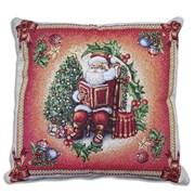 Подушка новогодняя гобеленовая Кристмас red