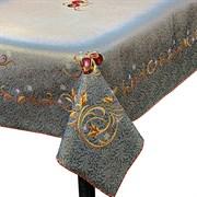 Скатерть Новогодняя гобеленовая с люрексом Голд silver