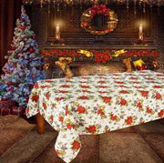 Скатерть новогодняя гобеленовая с люрексом Новогоднее настроение