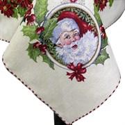 Скатерть новогодняя гобеленовая с люрексом Новогодний Джой